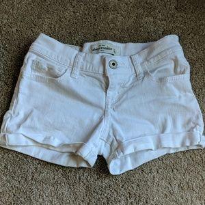 Abercrombie Kids White Jean Shorts!